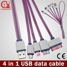 1 to 4 All in one usb multi charger data cable for all mobile phones