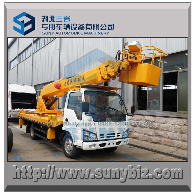 10 m high basket working truck insulation small 4x2 high altitude operation truck