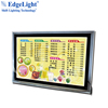 Edgelight advertising poster display crystal LED light box picture frame