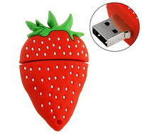 Sweet Cartoon Strawberry USB Flash Drive Pendrive 4GB 8GB 16GB USB Stick External Memory Storage Pen Drive