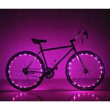 Sinohamm USB Rechargeable Bike Spoke Lights String Cycling Wheel Lights Bicycle Lightweight Accessory