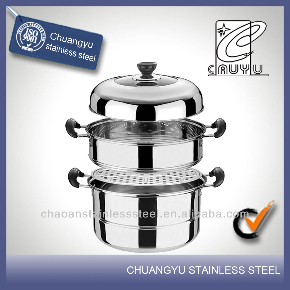 Stainless steel high quality dhokla steamer on sale
