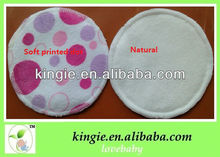 soft printed colorful waterproof absorbent breast pad,high absorbency with 3 layer.