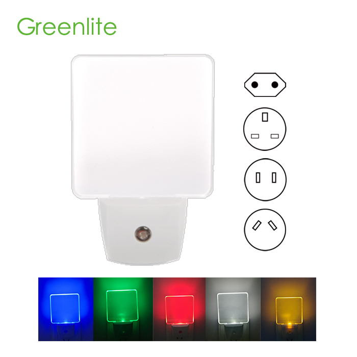 Brightness decorated fashion replacement baby night lights plug in wall
