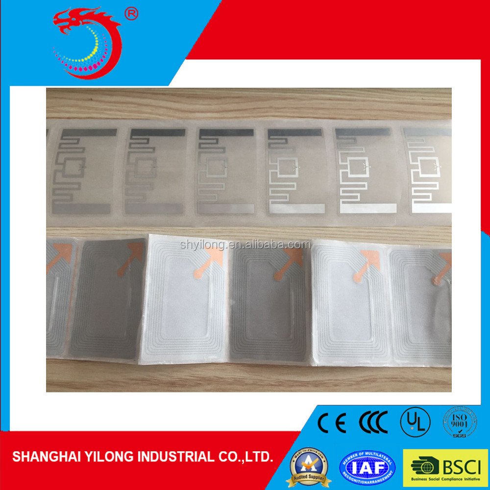 YILONG High Quality Rfid Dry / Wet Inlay With Ntag213