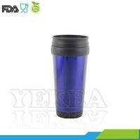 Hot new products for 2015 , 450 ml promotional mug , double wall paper insert travel mug , stainless steel cup with lid