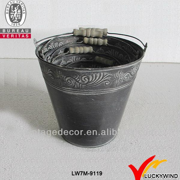 galvanized rustic decorative christmas metal craft bucket for flower