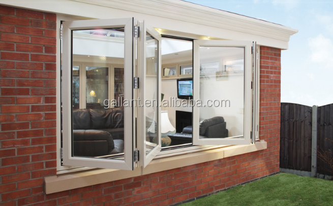 Manual blinds aluminum sliding window