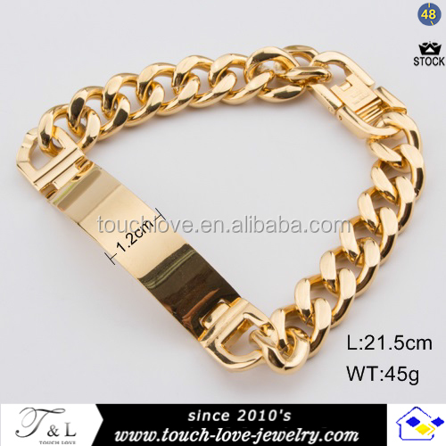 Stainless Steel Bracelet New Gold Chain Design For Men Bracelets Wholesales