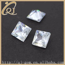 Hot sale 8x8mm Square Cut AAA quality White Crystal Cubic Zirconia