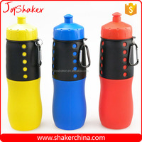BPA free Silicone Customized Folding Water Bottle with Hook