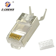 High Quality Cat5e Cat6 Cat7 RJ45 Connector For Stranded Solid Network Cable 8P8C Gold Plated RJ45 Plug With UTP Connector RJ45