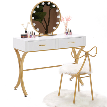 Vanity Metal Girls Make-up Dresser with Mirror dressing table
