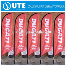 Competitive price custom beach flag for wholesale