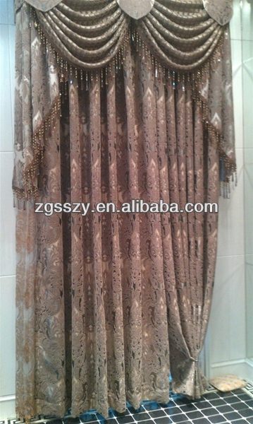Ready silk made motorized retractable curtains