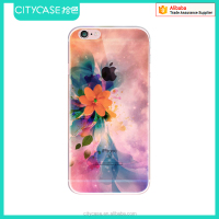 city&case low price color prints tpu cover case for iphone 6