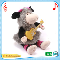 High quality speaker batteries plush toys cute female sheep lovely customized wears cute gift stuffed cuddle animal