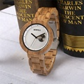 Wholesale Handcrafted Custom Logo Stainless Steel with Wood Watch 3 ATM waterproof