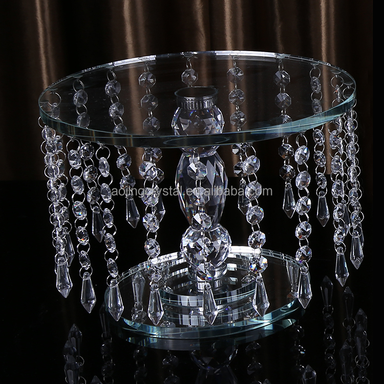 FACTORY HOT SALE hanging crystal cake stand for wedding cake