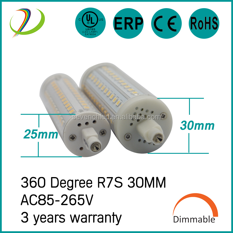 UL , CE , RoHS listed 3 years warranty 360 degree dimmable 6w 10w 12w 15w led r7s replacing halogen bulb 500w