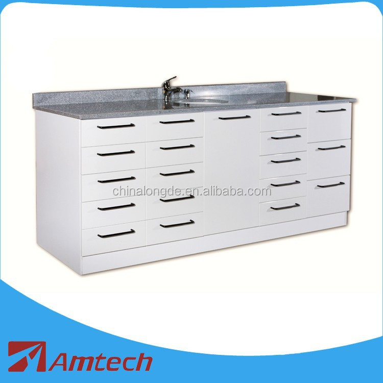 2016 Good look best seller lot drawer customized AM-03S dental clinic cabinet hospital furture with hand wash basin