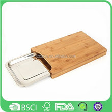 Wholesale Eco Healthy Cutting Board Bamboo Chop Board with serving tray and drawer