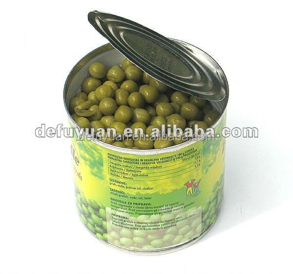 Export canned Food Canned Green peas with competitive
