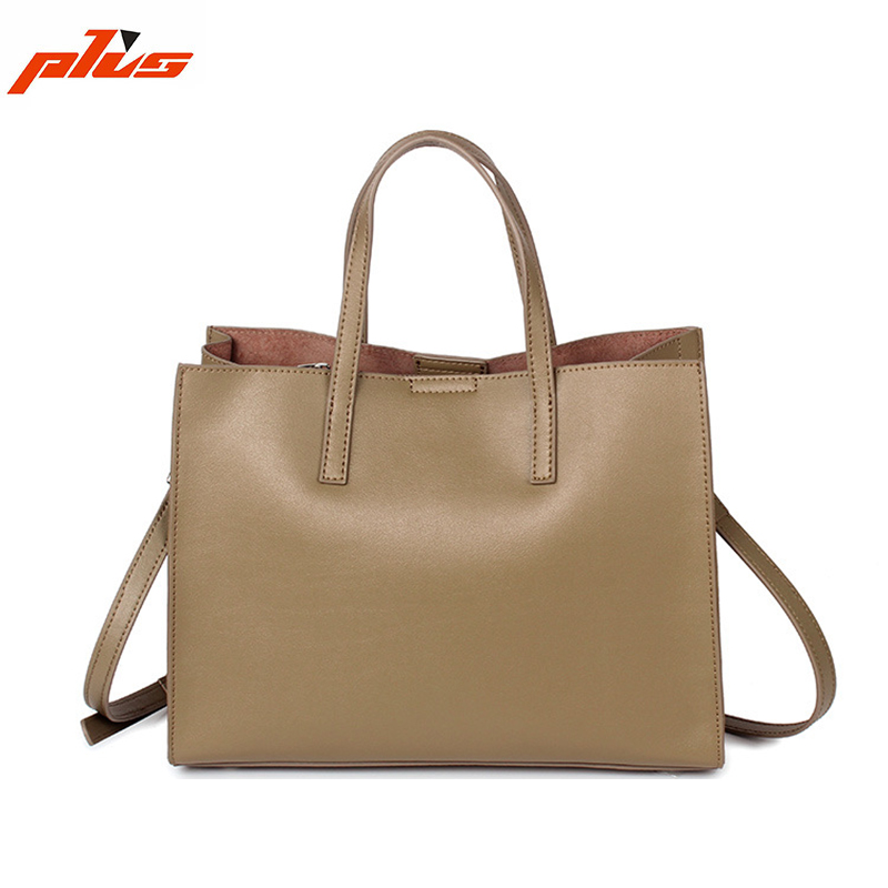 Fashion Bag Ladies Handbag 2016 Beige Genuine Leather/Pure Leather Handbag Tote Bag