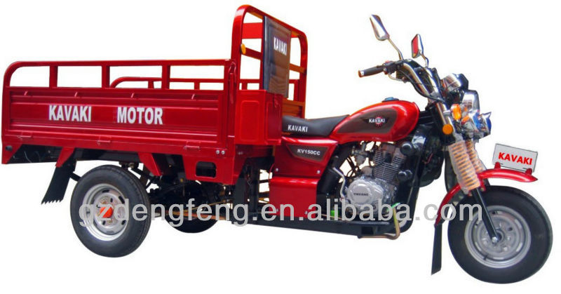2013 New Products Bargain 150cc Red Cargo 2.2m Tricycle KV150ZH-A Factory direct sales Three wheel motorcyle