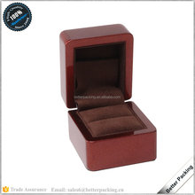 JBW370R Custom Unique Red Wooden Jewelry Packaging Wedding Ring Box