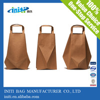 2014 custom printed reusable online shopping sites brown paper bag