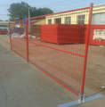 3.5 mm wire diameter red PVC coated Canada temporary fencing