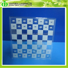 DDL-H006 Trade Assurance Luxury Clear Acrylic Chess Board for Promotion, Acrylic Chess Board Set, Wholesale Chess Board