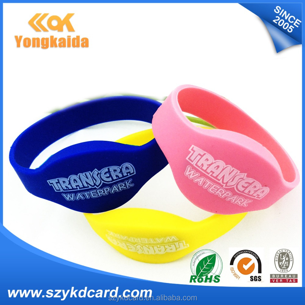 Active Tag rfid LF/HF/UHF passive RFID wristband for hotel door lock