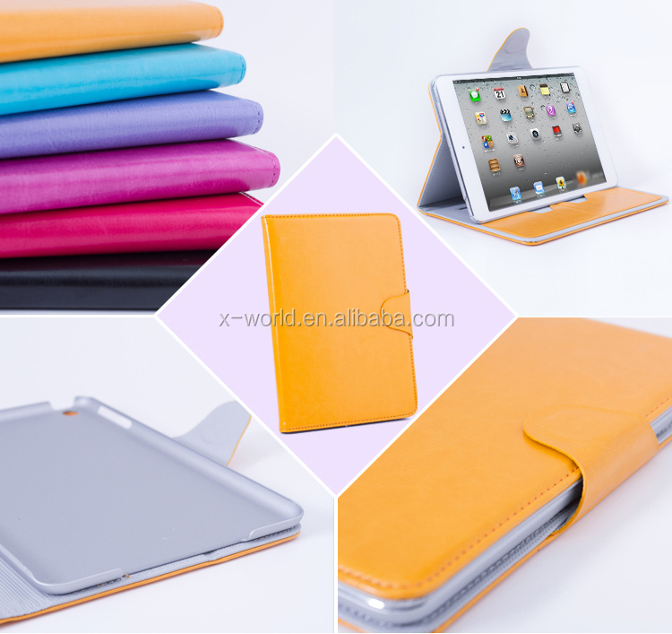 Young Lady Fashion Handheld Stand Leather Case for iPad Mini 2