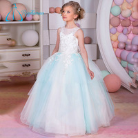 Custom-Made Scoop Sleeveless Affordable Flower Girl Dresses