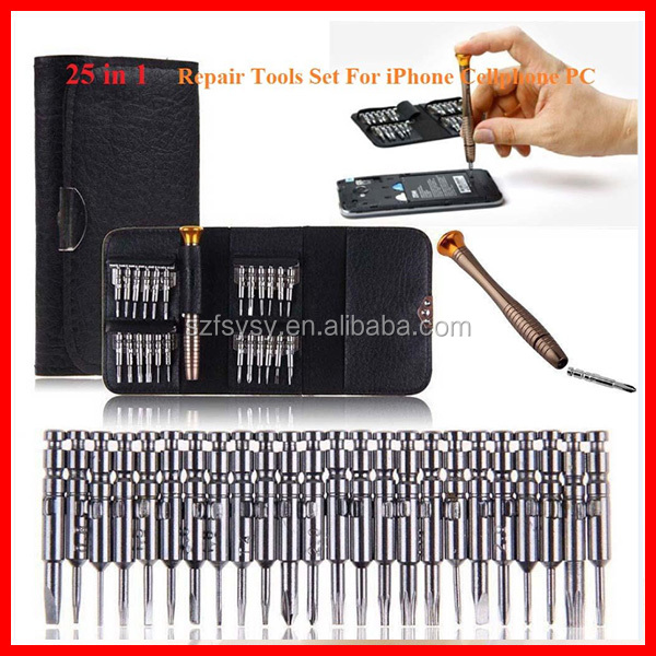 25 in 1 Precision Torx Screwdriver Cell Phone Repair Tool Set For Iphone Cellphone