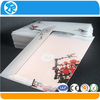 pvc clear plastic greeting card folding packaging box