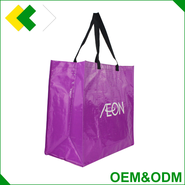 Factory price Hot sale Customized laminaied foldable woven shopping bag promotional fabric recyclable pp non woven bag