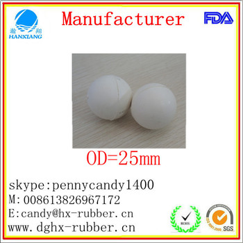 Dongguan manufacturer high bouncy soft silicone ball