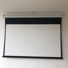 "108"" Electric Tab Tensioned Screen, Motorized Projector Screen"