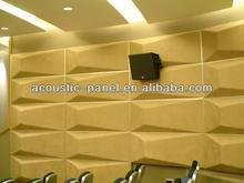 acoustic foam 3D sound absorber panel 3D fabric panel for studio