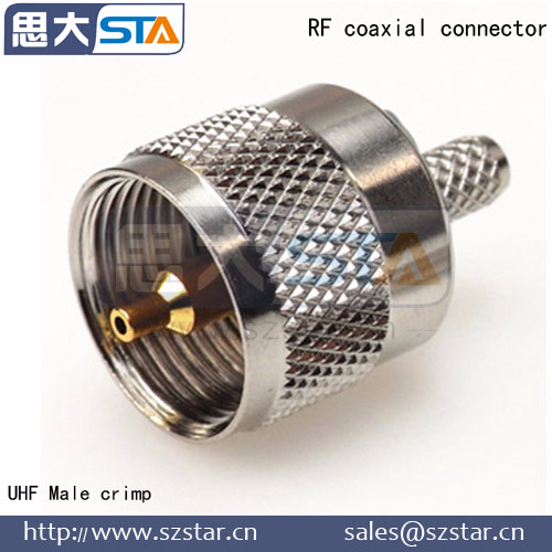 RF Male Crimp for LMR400 Cable UHF PL-259 Connector