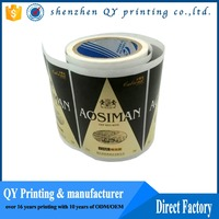 OEM printing shampoo logo labels,ecofriendly roll vinyl sticker
