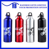 Hot selling 350 ml-750ML logo printed factor price cheap aluminum drinking bottle with carabiner