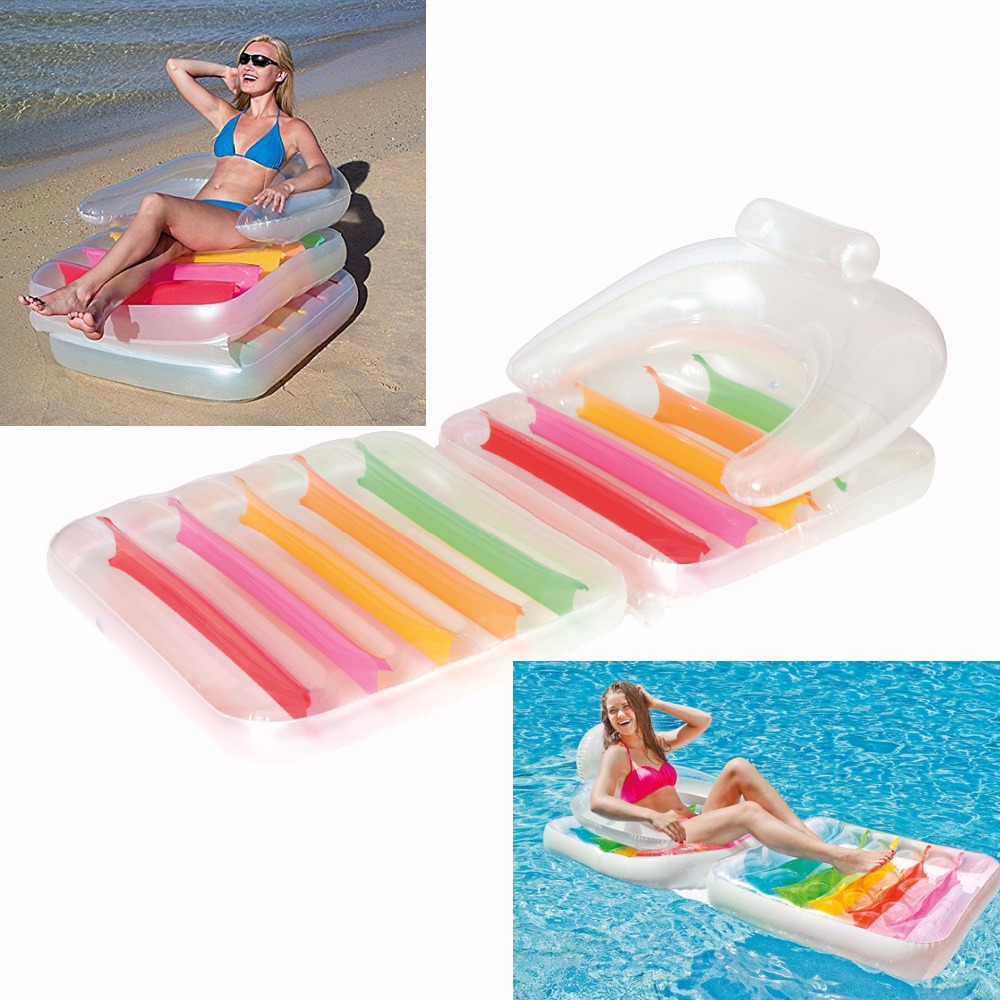 Floating on water beach inflatable water float raft and water inflatble lounge for outdoor sports