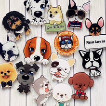 Cute puppies cartoon designer diy funny acrylic modern fashion brooches