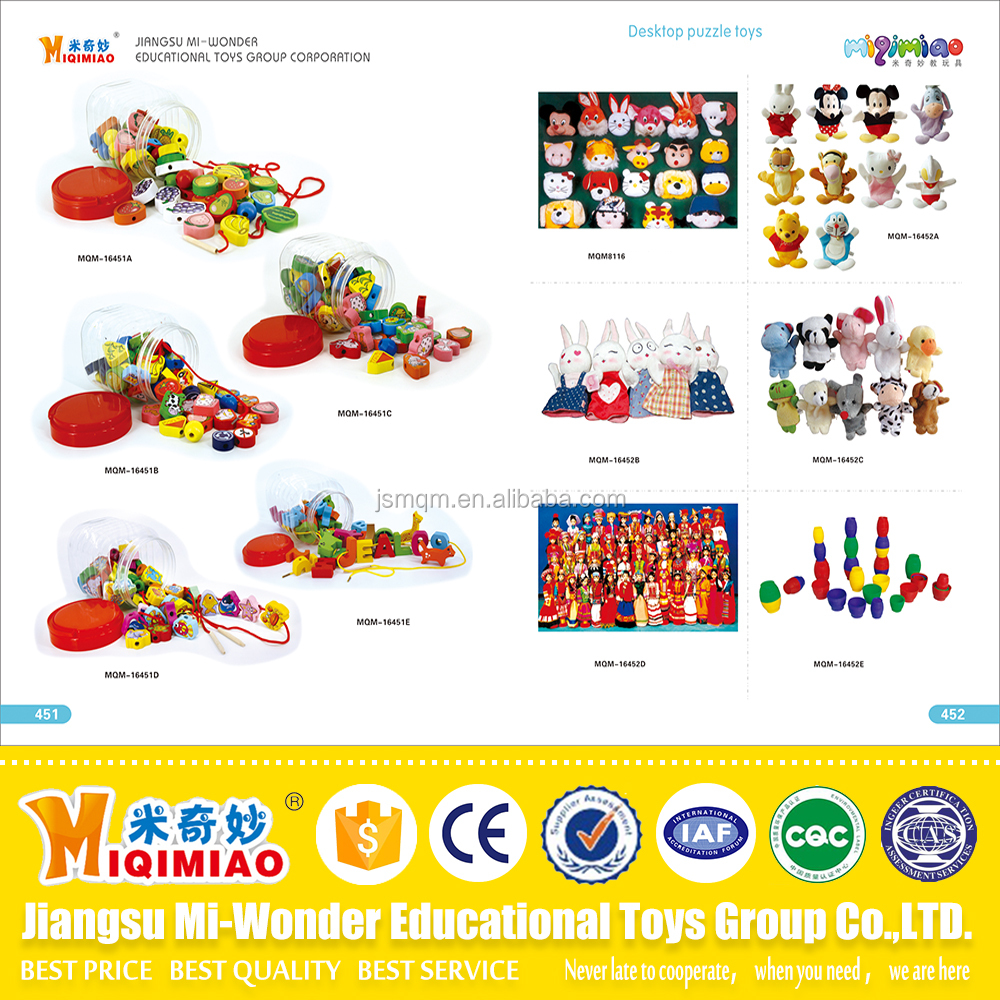 Safety material plastic and wooden educational toys for kids from China