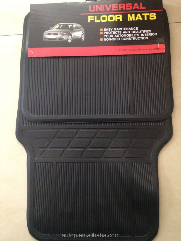 AUTOP wholesale rubber Universal 4 Pieces Car Floor Mats auto liner