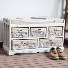 new design cheap storage outdoor bench / wood storage stool